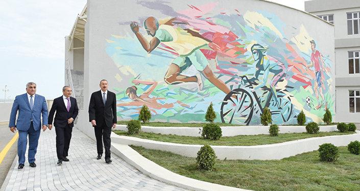 """İlham Əliyev """"Təhsil"""" Respublika İdman Mərkəzinin Zuğulba tədris idman bazasının açılışında"""