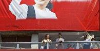 Myanmarın Demokratlar Partiyasının lideri Aung San Suu Kyi, Myanmarın Yangon şəhərində