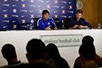 Гравный тренер Челси Антонио Конте во время пресс-конференции, Лондон, Великобритания - 11 сентября 2017 года
