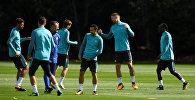 Футболисты Челси во время тренировки, 11 сентября 2017 года