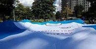 Флешмоб в Лондоне в поддержку ФК Карабах
