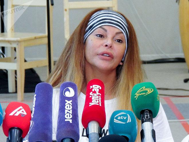 Пресс-конференция Айгюн Кязымовой