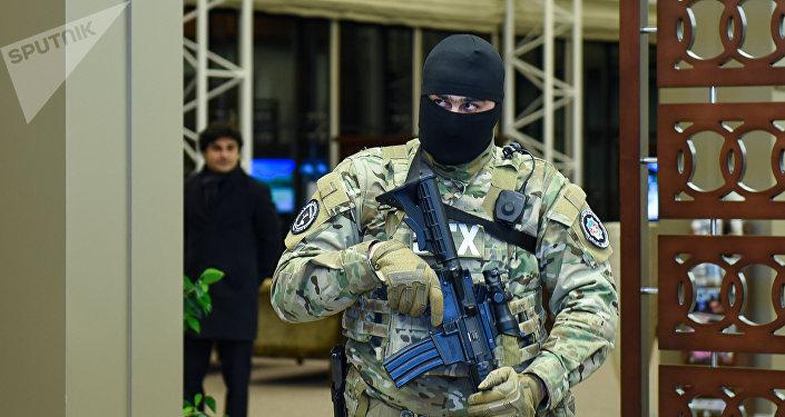 Сотрудник Службы государственной безопасности Азербайджана, фото из архива