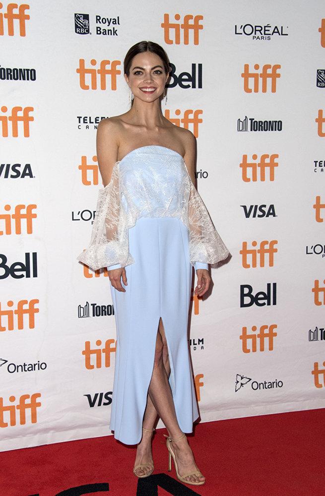 Американская актриса Кэйтлин Карвер перед премьерой фильма Я, Тоня, прошедшей в рамках TIFF
