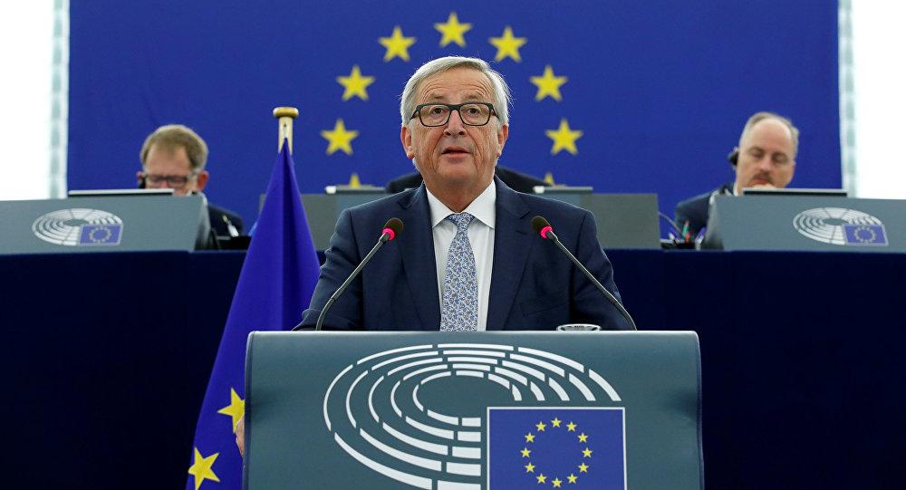 Avropa Komissiyasının sədri Jan-Klod Yunker İttifaqın plenar iclasındakı çıxışı zamanı, Strasburq, 13 sentyabr 2017-ci il