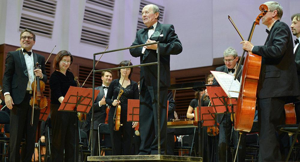 Музыканты Новосибирского академического симфонического оркестра, 14 мая 2013 года