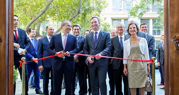 Церемония открытия нового здания Азербайджано-французского университета
