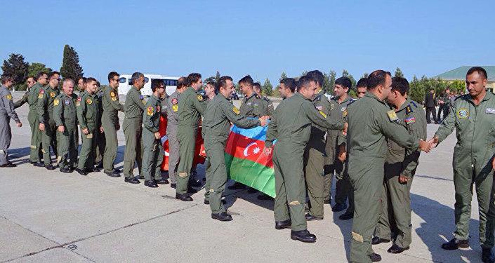 """Очередная группа военной авиации Турции, участвующая в учениях """"TurAz Qartalı-2017"""", прибыла в Азербайджан"""