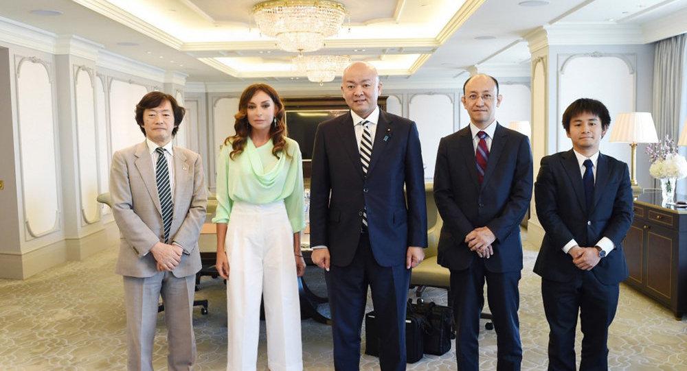 Первый вице-президент Мехрибан Алиева встретилась с парламентским заместителем министра иностранных дел Японии