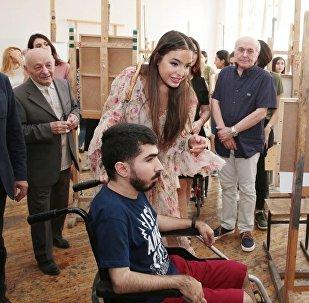 Вице-президент Фонда Гейдара Алиева Лейла Алиева побывала в Государственной академии художеств