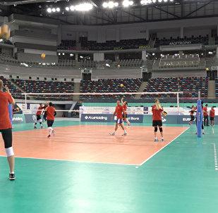 Женская сборная по волейболу готовится к ЧМ Европы