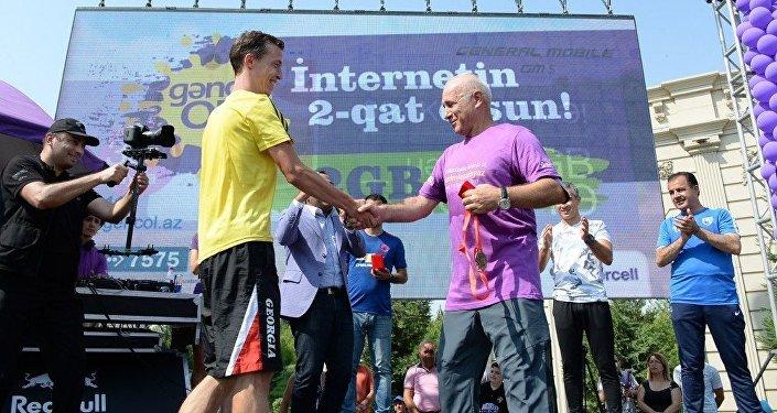 Награждение победителей Гянджинского марафона-2017