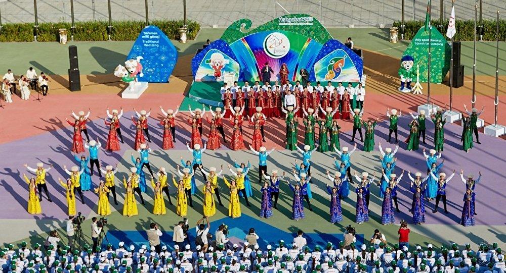 Церемония приветствия команд-участников Ashgabat 2017, 14 сентября 2017 года