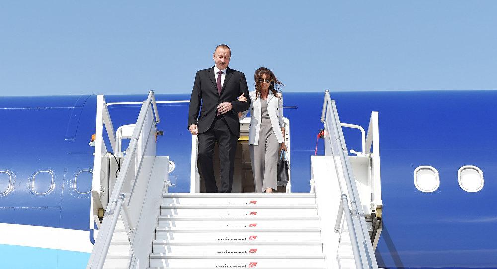 Президент Азербайджана Ильхам Алиев и первая леди Мехрибан Алиева в Нью-Йорке