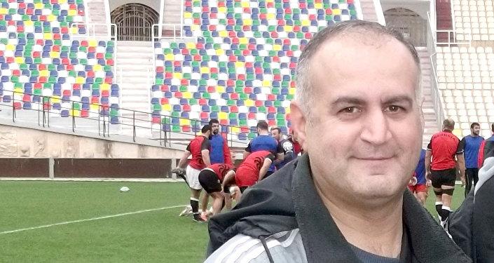 Руководитель отдела развития Федерации регби Азербайджана Эмиль Алиев