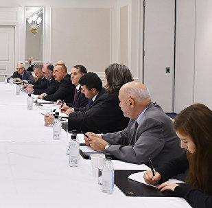 Azərbaycan Respublikasının Prezidenti İlham Əliyev Amerika yəhudi təşkilatlarının nümayəndələri ilə görüşü zamanı