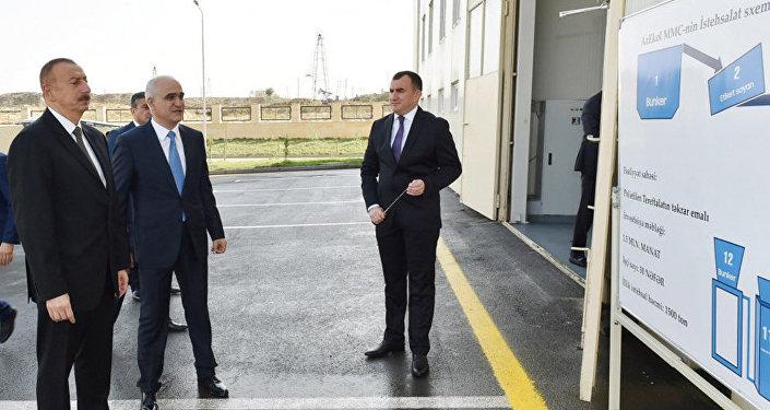 Президент Азербайджана Ильхам Алиев принял участие в открытии Балаханского промышленного парка