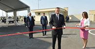 İlham Əliyev Balaxanı Sənaye Parkının açılışında iştirak edib