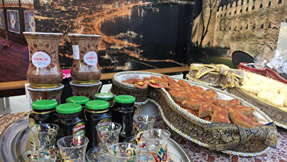 Павильон Азербайджана на Международном гастрономическом фестивале в Париже