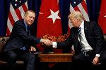 Türkiyə prezidenti Rəcəb Tayyib Ərdoğanla ABŞ rəhbəri Donald Tramp arasında görüş, Nyu-York, 21 sentyabr 2017-ci il