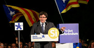 Kataloniya hökumətinin sədri Karles Puçdemonun çıxışı, San-Kuqat, 22 sentyabr 2017-ci il