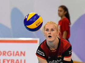 Последний групповой матч Чемпионата Европы 2017 по волейболу среди женщин между сборными Азербайджана и Германии
