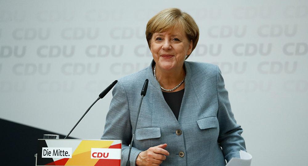 Ангела Меркель во время пресс-конференции по итогам выборов, Берлин, 25 сентября 2017 года