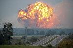 Ukraynanın Vinnitsya vilayətinin Kalinovka şəhərində silah-sursat anbarında partlayış