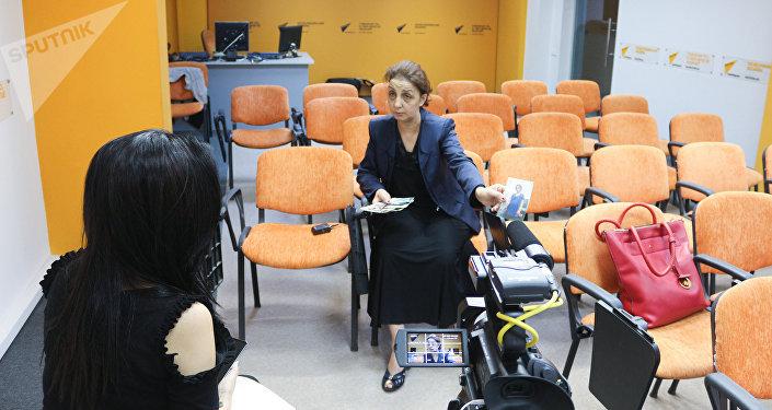 Вахида Нуриева в студии Sputnik Азербайджан
