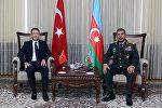 Министр национальной обороны Турецкой Республики Нуреттин Джаникли в Министерстве обороны Азербайджана
