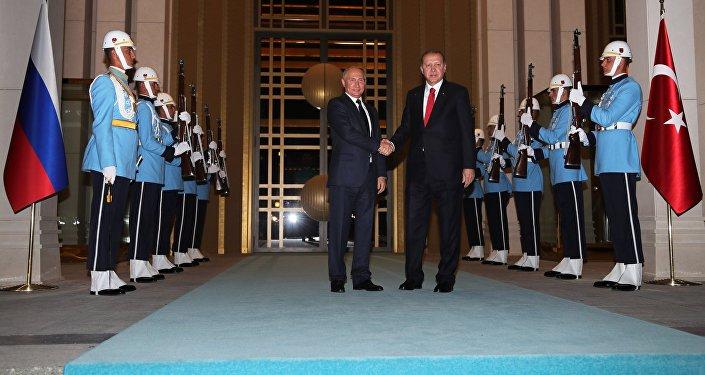 Türkiyə prezidenti Rəcəb Tayyib Ərdoğan və Rusiya prezidenti Vladimir Putin