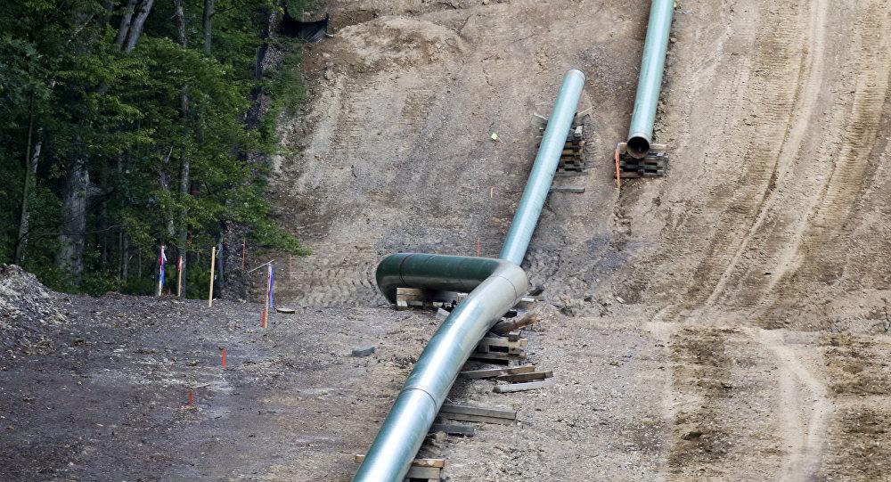 Строительство газопровода, фото из архива