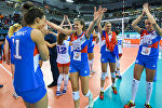 Награждение победителей чемпионата Европы по волейболу среди женщин