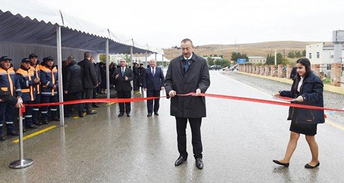 Президент Ильхам Алиев принял участие в открытии автодороги Шамахы-Чёль Гёйлер-Падар