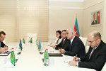 Министр экономики Шахин Мустафаев на встрече с новым главой представительства Евросоюза в Азербайджане Кестутисом Янкаускасом