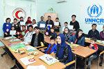 Уроки азербайджанского языка для иностранных беженцев в Баку