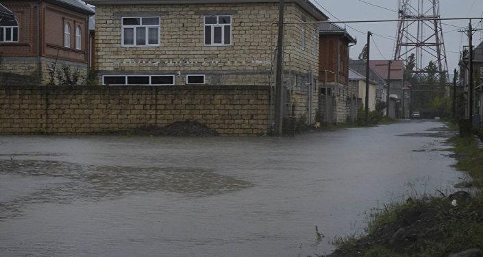 Кадры затопленных улиц с южного региона Азербайджана