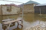 Озеро Дашагиль затопило поселок Ашагы Гуздак