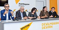 Пресс-конференция, приуроченная ко Дню учителя в мультимедийном пресс-центре Sputnik Азербайджан