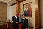 Министр иностранных дел Азербайджана Эльмар Мамедъяров с новоназначенным представителем СЕ в республике послом Золтаном Хернйесом
