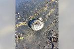 Противотанковая мина, обнаруженная на берегу моря в городе Лянкяран