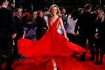 Актриса Шарлотта Кэрролл на красной дорожке Лондонского кинофестиваля