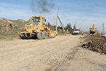 Строительные работы автомобильной дороги Быгыр-Джыргурд-Шекер-Вейселли-Алыкенд-Мырты в Гекчайском районе