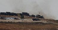 Türk tankları Türkiyə-Suriya sərhəddində, Reyhanlı yaxınlığında, Hatay vilayəti, 9 oktyabr 2017-ci il