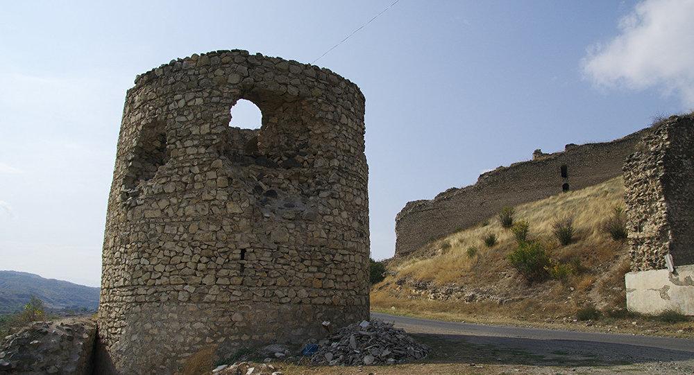 Вид на Кельбаджарский район Азербайджана