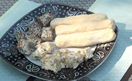 Восточная сладость: халва из сахарных волокон по-азербайджански