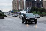 Bakı-Sumqayıt yolunda nəqliyyatın hərəkəti, arxiv şəkli