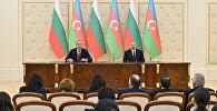 Президент Ильхам Алиев и Президент Румен Радев выступили с заявлениями для печати