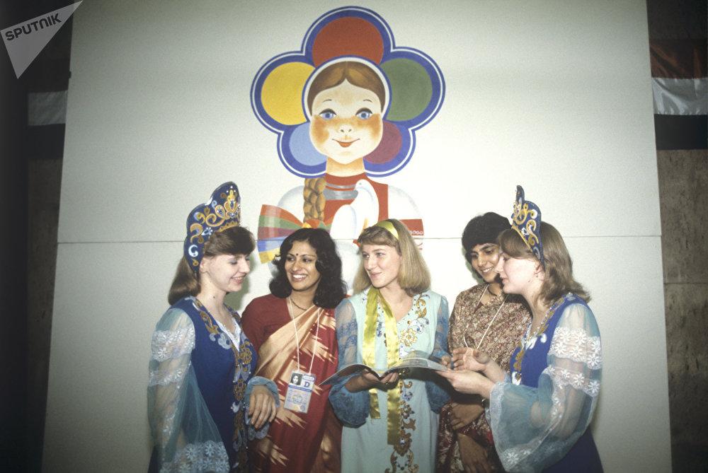 Участники XII Всемирного фестиваля молодежи и студентов