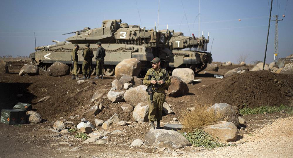 Израильские солдаты на границе с Сирией